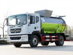 赞!餐厨垃圾车,助力国家垃圾分类计划之东风D912方餐厨垃圾车整车说明图片